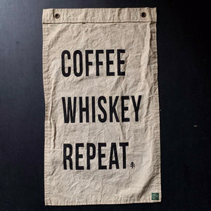 Banner | Coffee Whiskey Repeat | Pointer & Pine