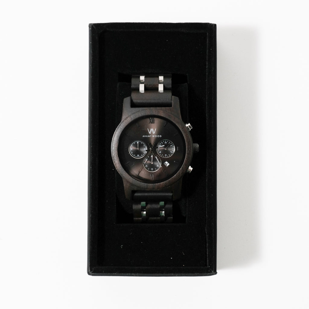 Chrono S Watch | Ivory Black | Avant Wood