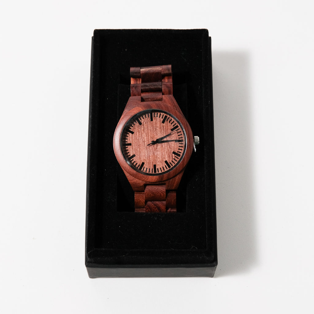 The Minimalist Watch | Red Sandalwood | Avant Wood