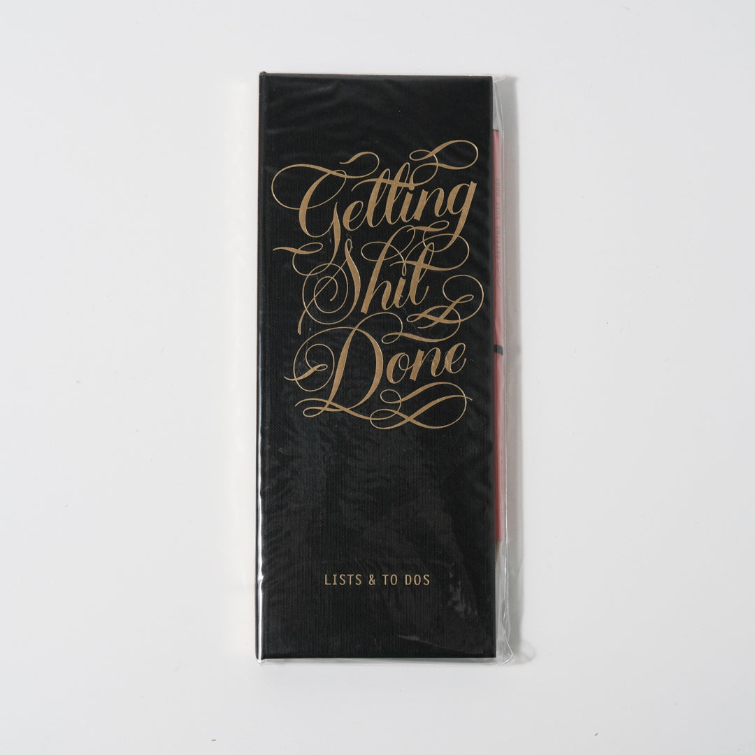 Getting Shit Done List Ledger | Calligraphuck