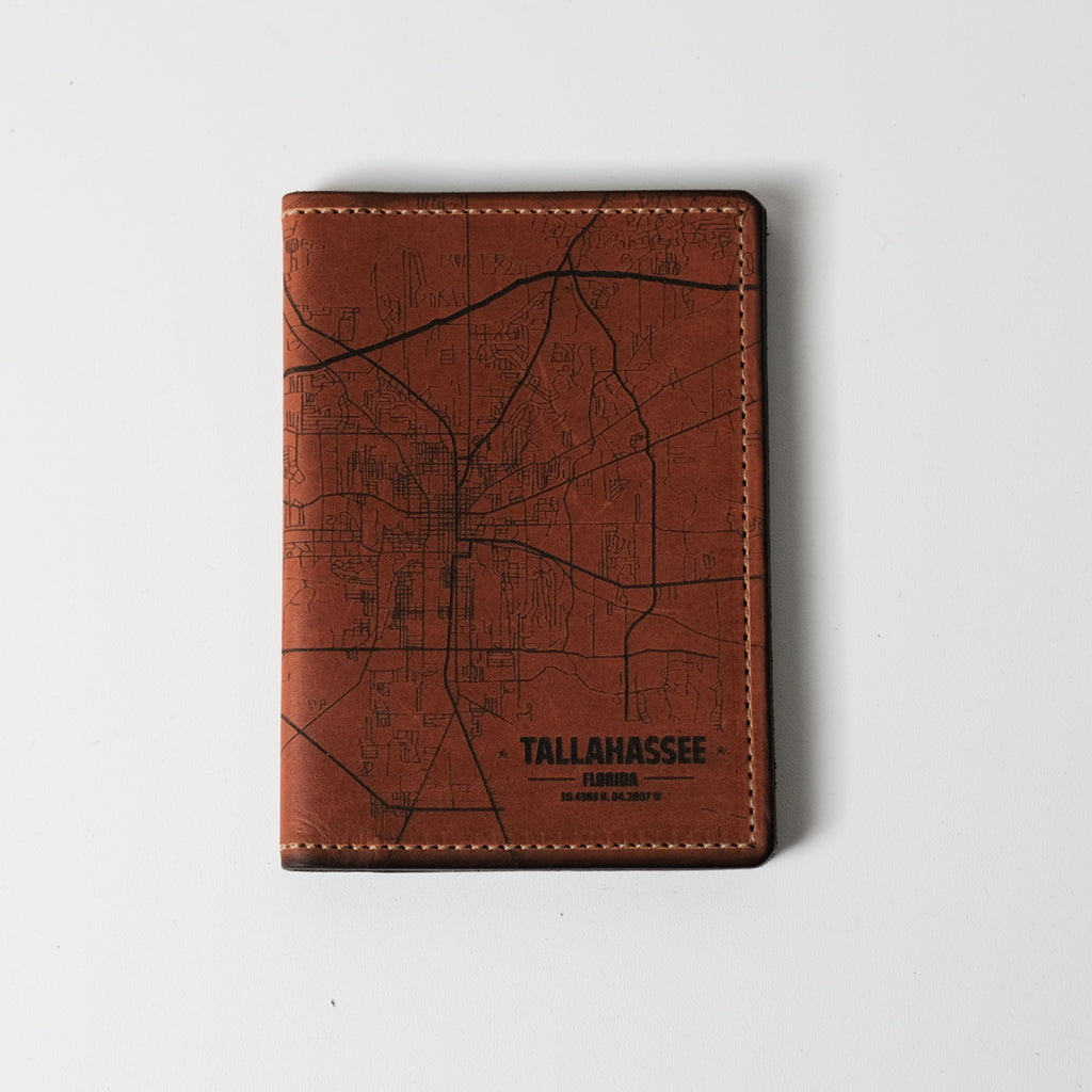 Tallahassee Map Passport Wallet | Tactile Craftworks