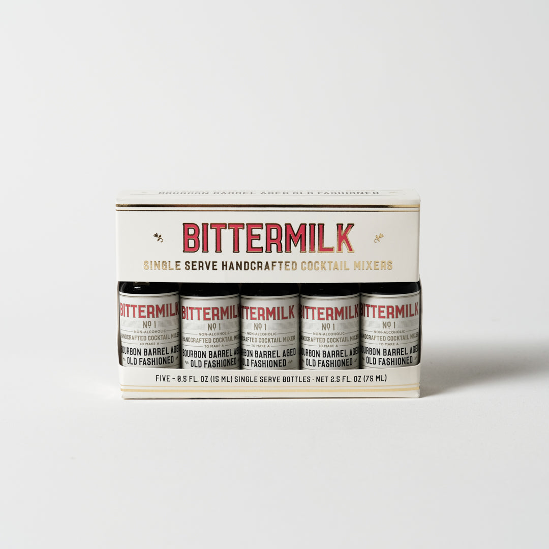 Single Serve Bourbon Barrel Aged Old Fashioned | Five Pack | Bittermilk