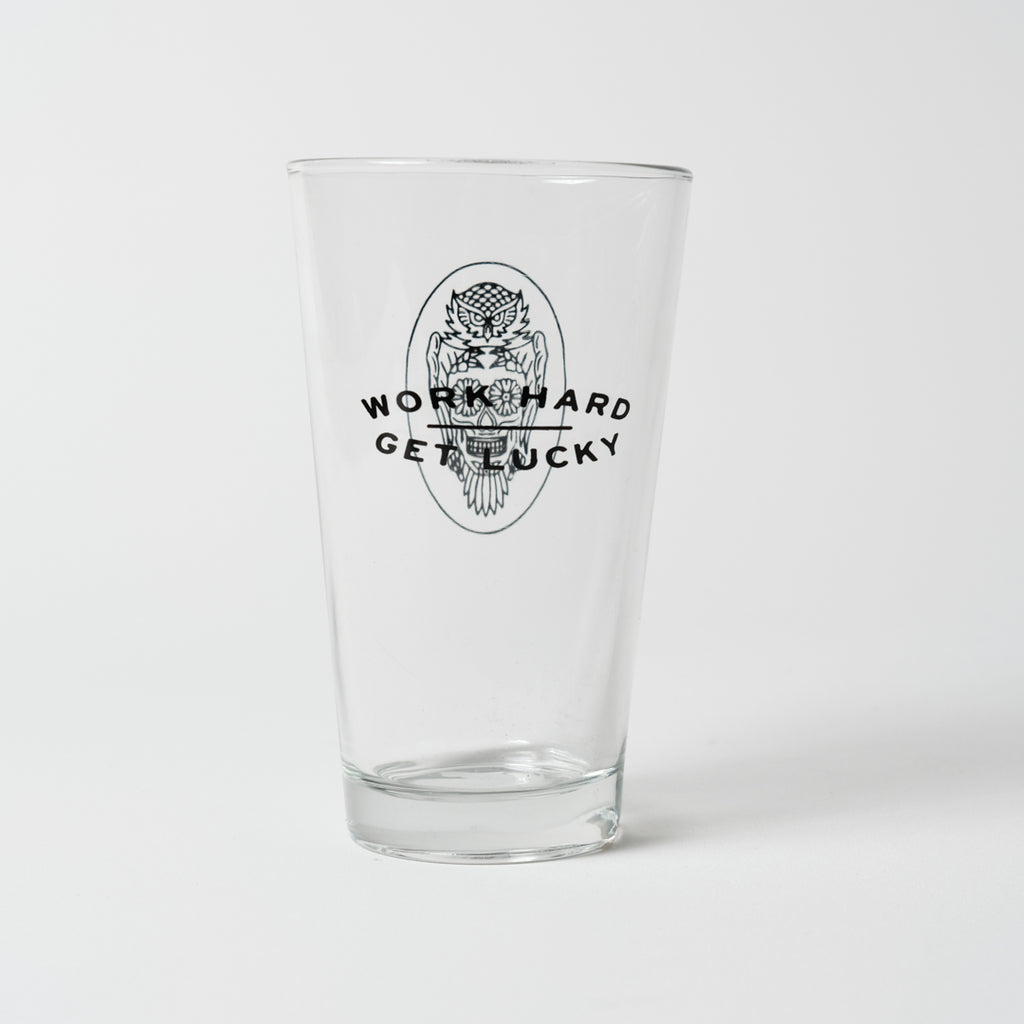 Pint Glass | Work Hard, Get Lucky | The Southern Pines