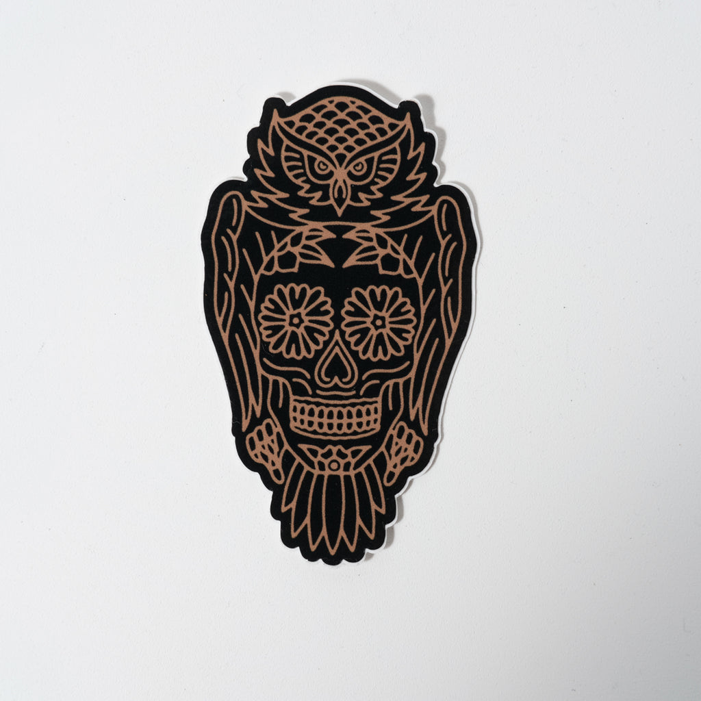Sticker | Owl Sugar Skull | The Southern Pines