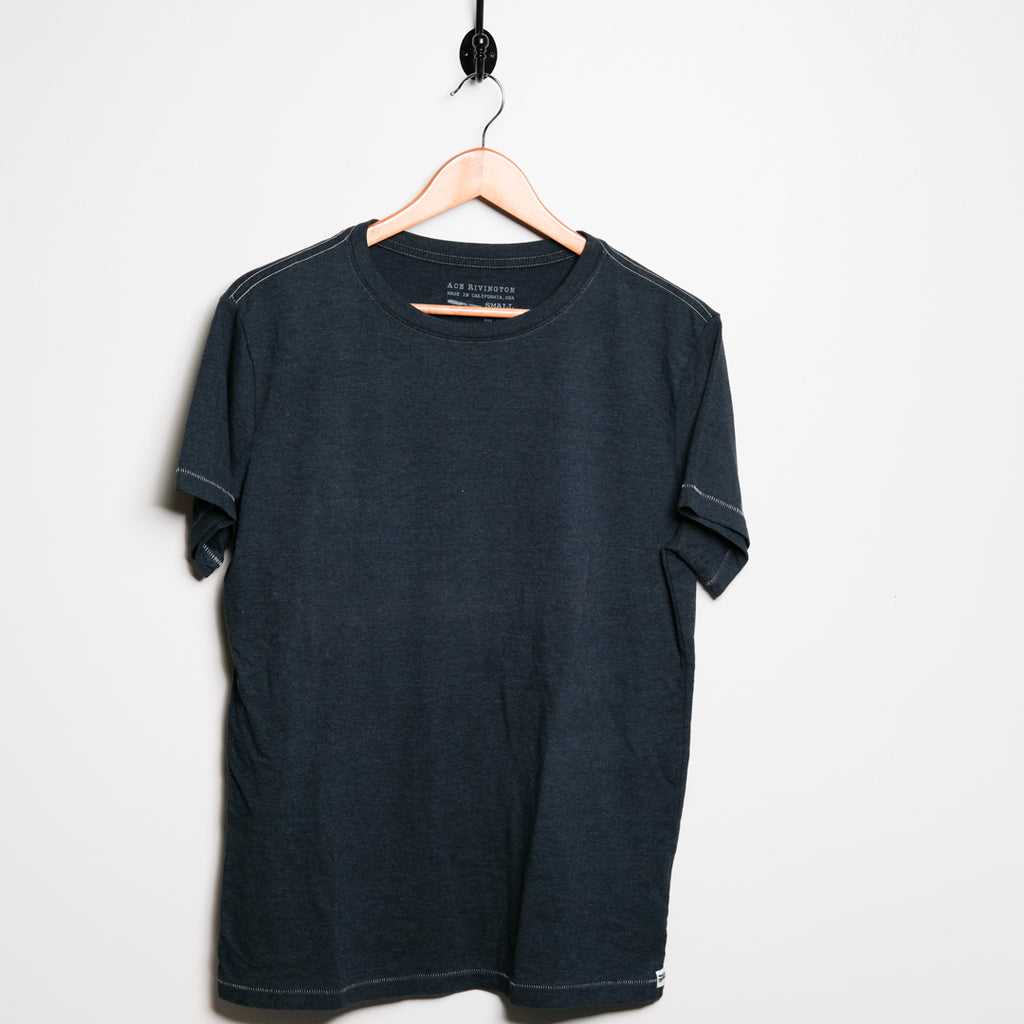 Cotton Tee | Blue | Ace Rivington