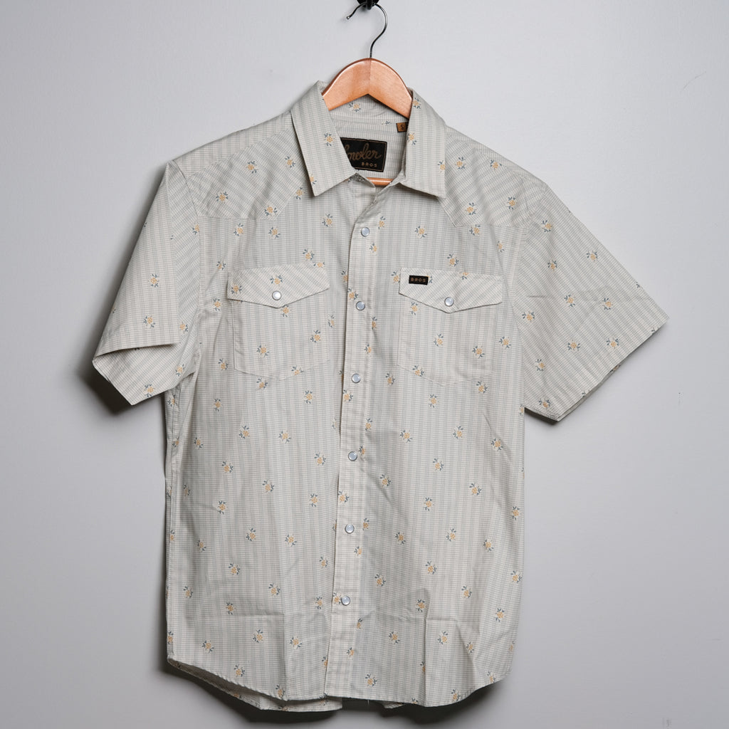 H Bar B Snapshirt | Medium White | Howler Brothers