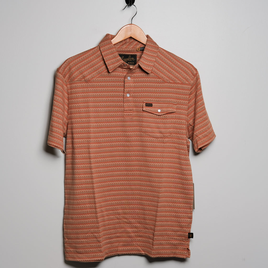 Ranchero Jacquard Polo | Copperpot | Howler Brothers