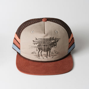 Burro Snapback Hat | Khaki Brown Rust | Howler Brothers