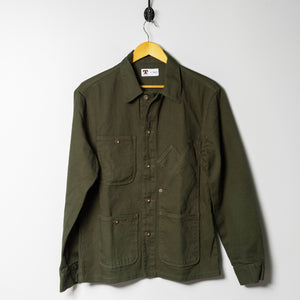 Coverall Jacket | Garment Dyed Green | Tellason