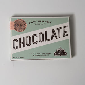 Dark Sea Salt Chocolate Bar | Olive & Sinclair