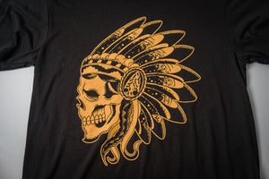Tee S/S | Skull | Black & Gold | The Southern Pines