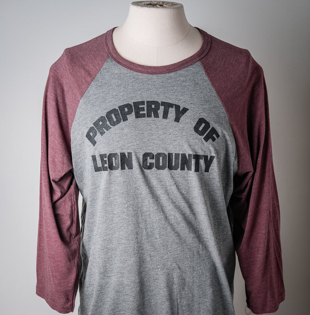 Tee L/S | Property of Leon County | Red & Grey | The Southern Pines