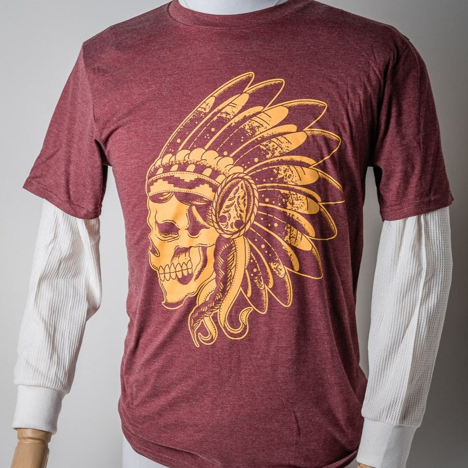 Tee S/S | Skull | Garnet & Gold | The Southern Pines