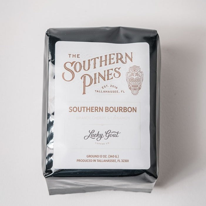 Southern Bourbon Coffee | Ground | Lucky Goat + The Southern Pines
