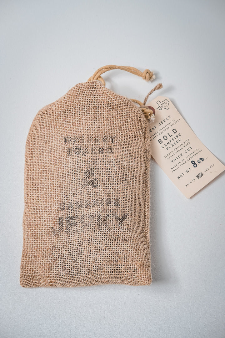 Whiskey Soaked Campfire Jerky | Manready Mercantile