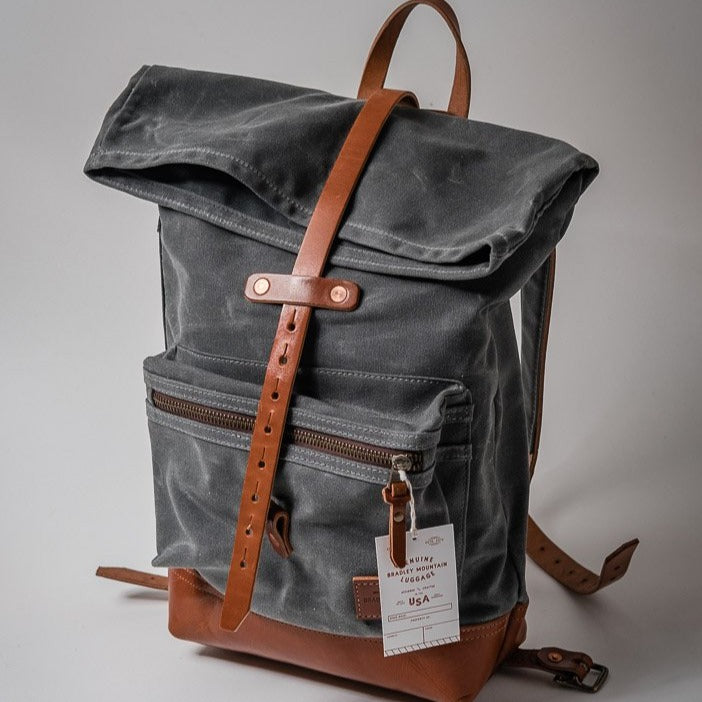 The Biographer Backpack | Charcoal | Bradley Mountain