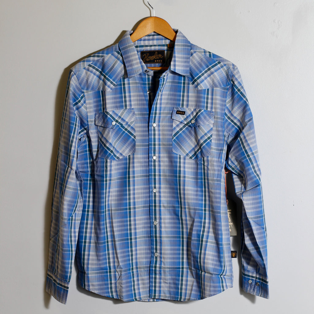 H Bar B Longsleeve | Panhandle Plaid Deacon Blue | Howler Brothers