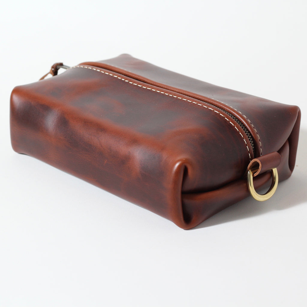 Heirloom Toiletry Travel Bag | Oxford Brown | LIfetime Leather Co.