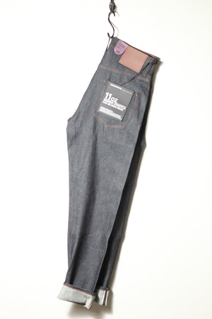 Relaxed Tapered Fit 11oz Stretch Selvedge | Blue | The Unbranded Brand