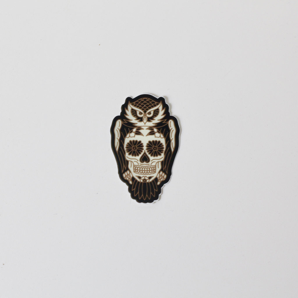 Sticker | White Owl Sugar Skull | The Southern Pines