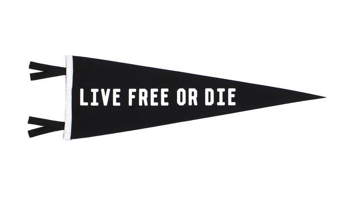Pennant | Live Free or Die Pennant | Oxford Pendant