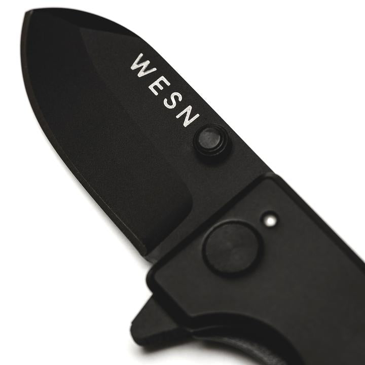 Blacked Out  Microblade Pocket Knife | WESN