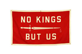 No Kings but Us Flag | Oxford Pennant