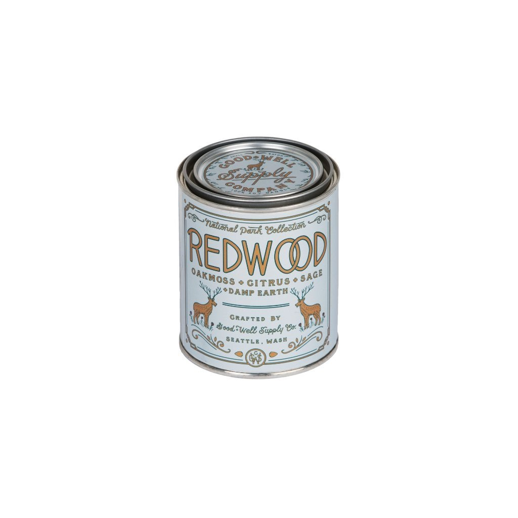 Redwood Candle | Oakmoss + Sage Citrus + Damp earth | Good+Well Supply Co