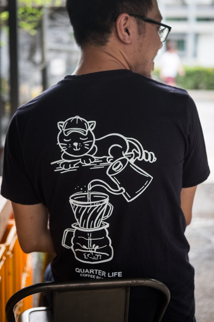 Brew It Like A Cat T-Shirt: QLC X fromninetotwo