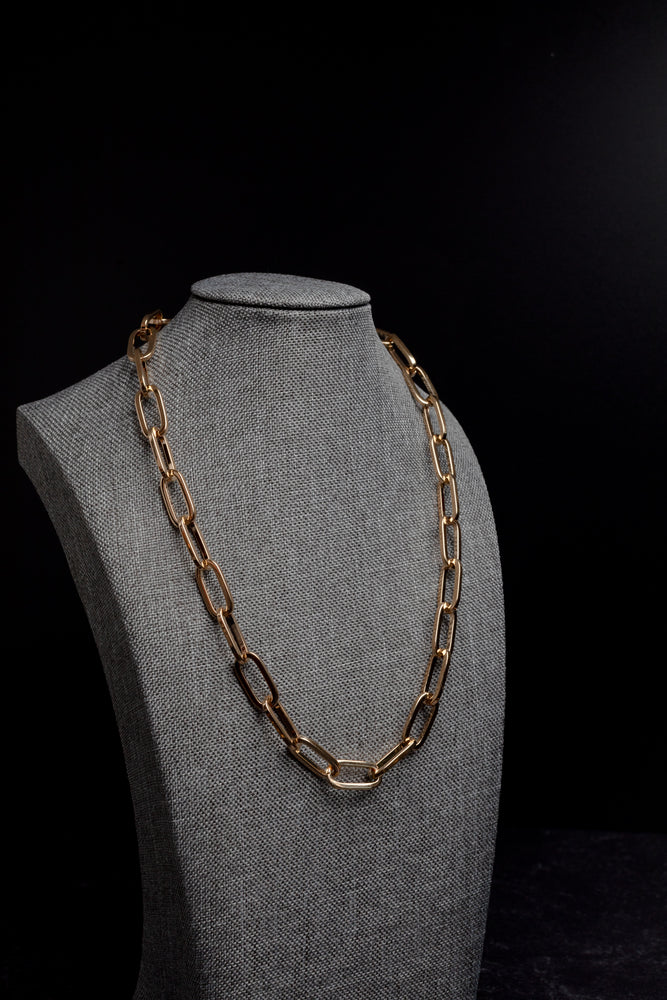 Emma Extra Gold Large Open Link Chain Necklace