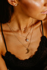 Farrah Star Moonstone Necklace