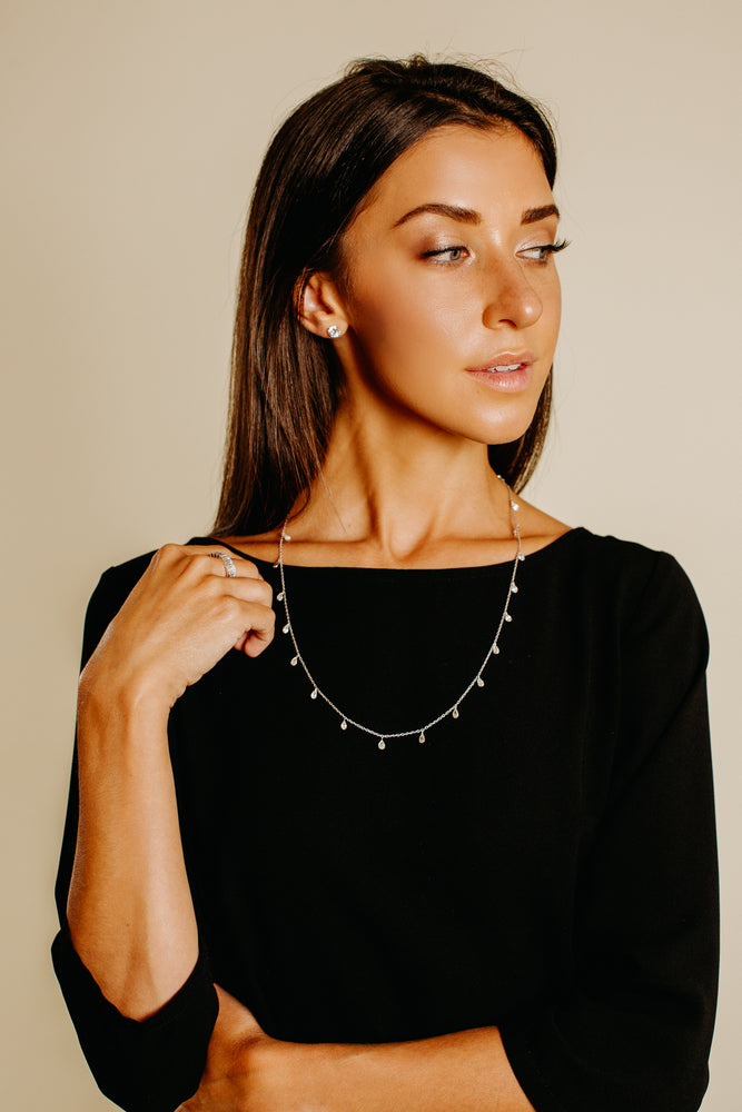Load image into Gallery viewer, Mildred Tear Drop Shaped Necklace