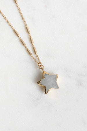 Load image into Gallery viewer, Farrah Star Moonstone Necklace