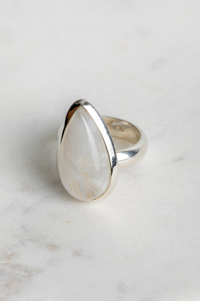 Lola Tear Drop Moonstone Ring
