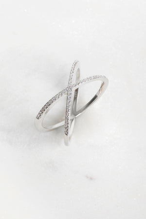 Diana Overlapping X CZ Ring