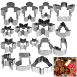16pcs Christmas Stainless Steel Biscuit Mould / Cookie Cutter
