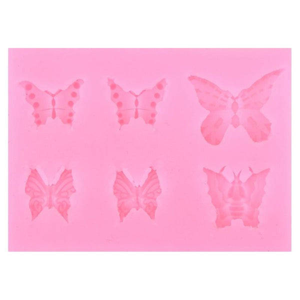 6-Hole Butterfly Silicone Fondant Mold
