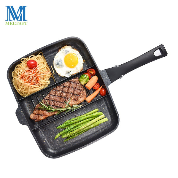 Meltset 4 in 1 Nonstick Medical Stone Cookware Pan