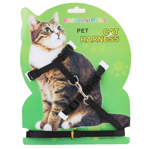 Pet Cat Rabbit Harness   Nylon Outdoor Collar Chest Strap Traction Harness For Cat Pet Supplies