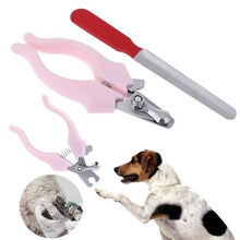 Load image into Gallery viewer, 2Pcs/set Pet Animal Puppy Nail Clippers Claw Cutter Scissors for Dog Puppy Cats Nail Trimmers Nail File Pet Grooming Tool Supply