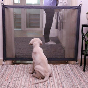 Magic Pet Gate For Dogs The Ingenious Mesh Safe Guard and Install Anywhere Pet Dog Safety Enclosure Dog Gate Dog Fences