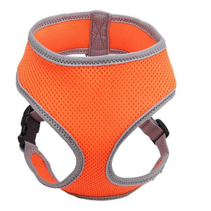 Soild Pet Harnesses Soft Breathable Air Mesh Chest Strap for Puppy Dog Pet Cat Outdoor Keep Safty Harness Supplies