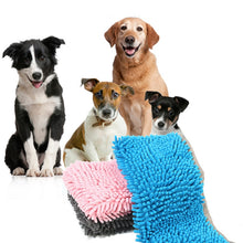 Load image into Gallery viewer, Pet cat dog absorbent towel Fiber chenille towel thickening cat dog bath towel pet Cleaning mat cushion pet accessorries
