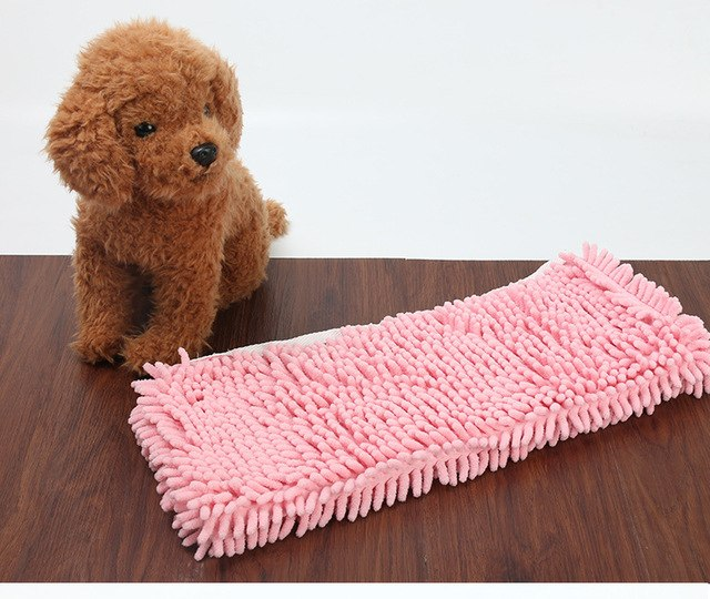 Pet cat dog absorbent towel Fiber chenille towel thickening cat dog bath towel pet Cleaning mat cushion pet accessorries