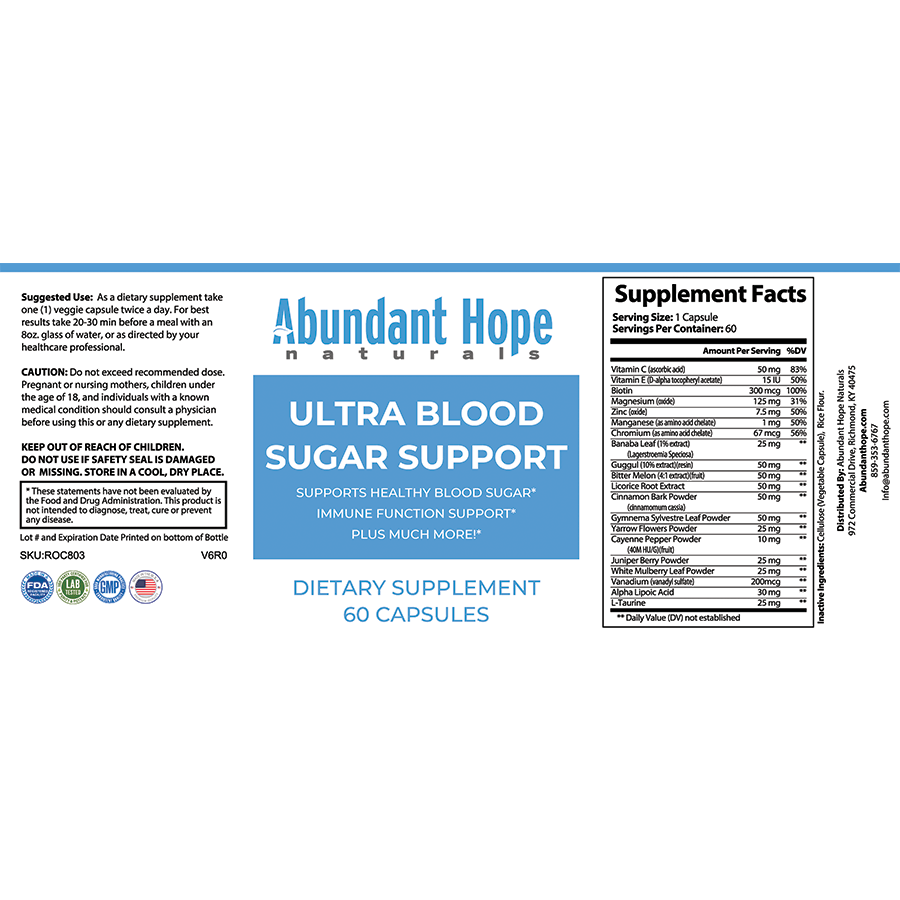 Ultra Blood Sugar Support