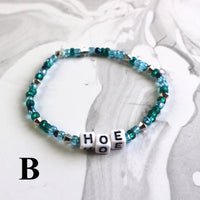 HOE glass bead stretch bracelet