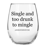 Single Stemless Wine Glass