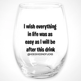 Easy Stemless Wine Glass