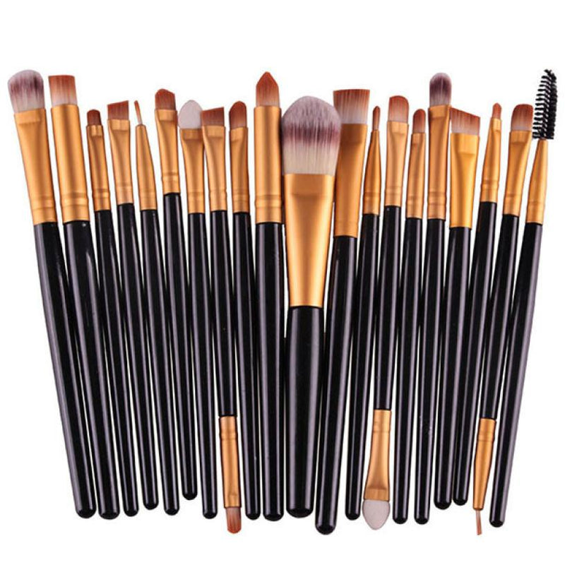 Professional 20 pcs/set Makeup Brush Set tools Make-up Toiletry Kit Wool Make Up Brush Set Soft Synthetic Hair pinceis Anne