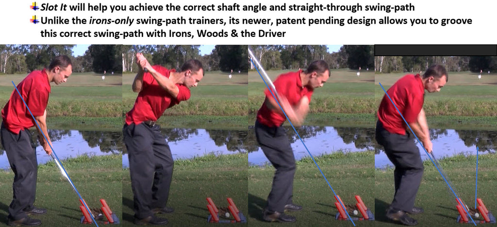 Master your swing-path, slot your swing with red poles slot it trainer practice